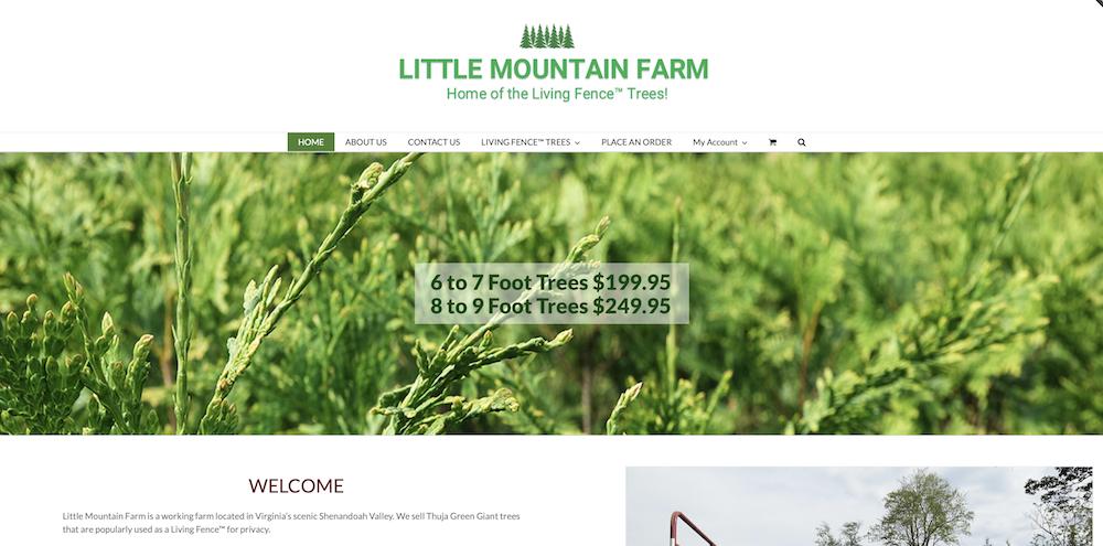Website for Tree Nursery